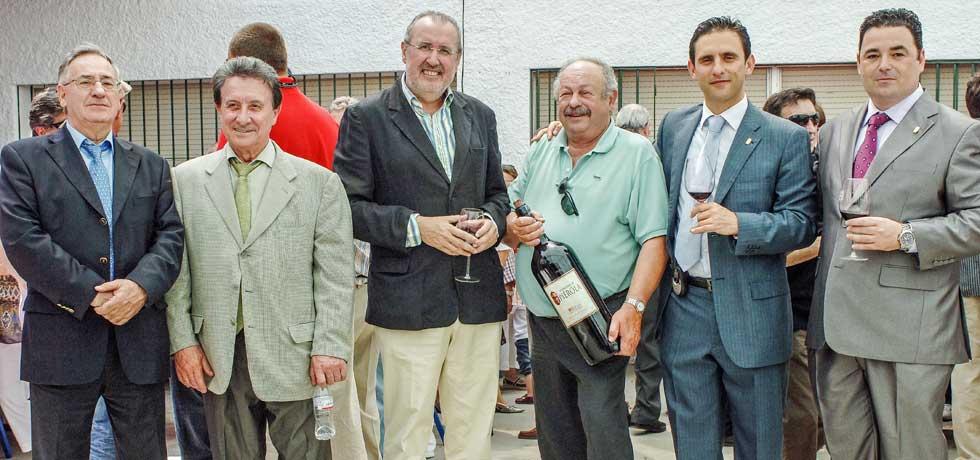 Paco Bandera con personalidades en VinOjen 2014